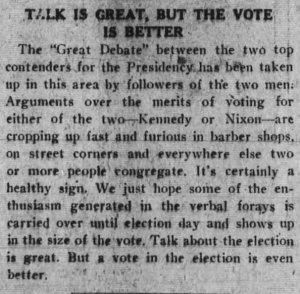 Talk is Great, but the Vote is Better
