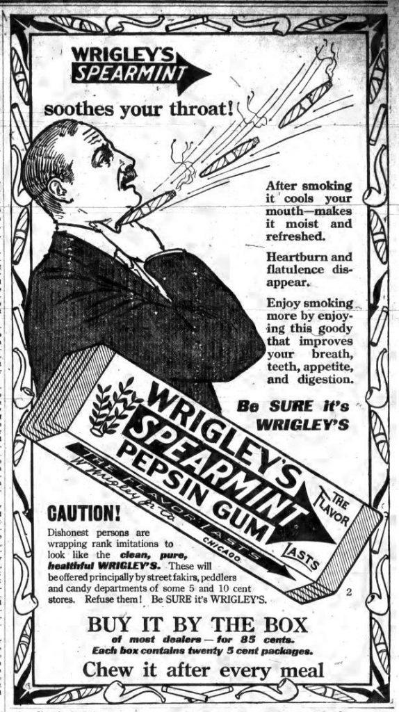 Wrigley's Ad 1914 The Enterprise