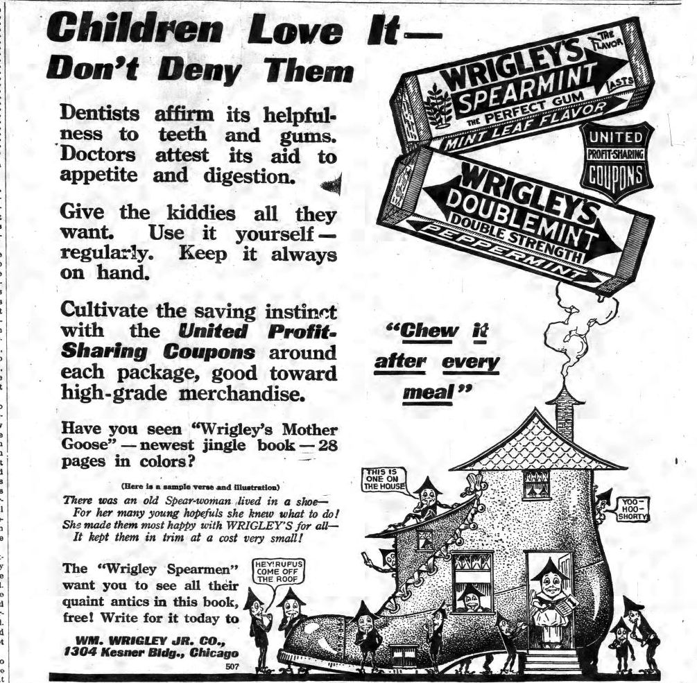 Wrigley's Ad 1915 Polk County News