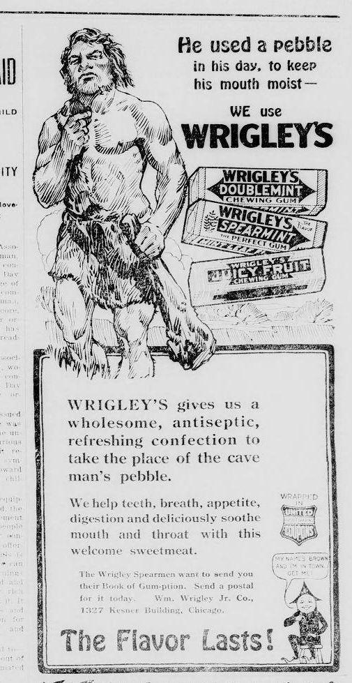 Wrigley's Ad 1916 Sylvan Valley News
