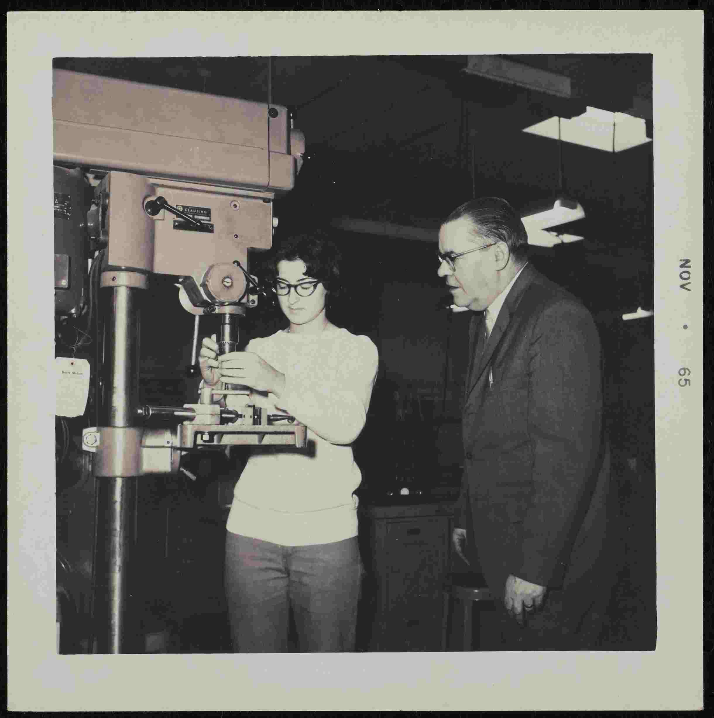 Machining student, 1965
