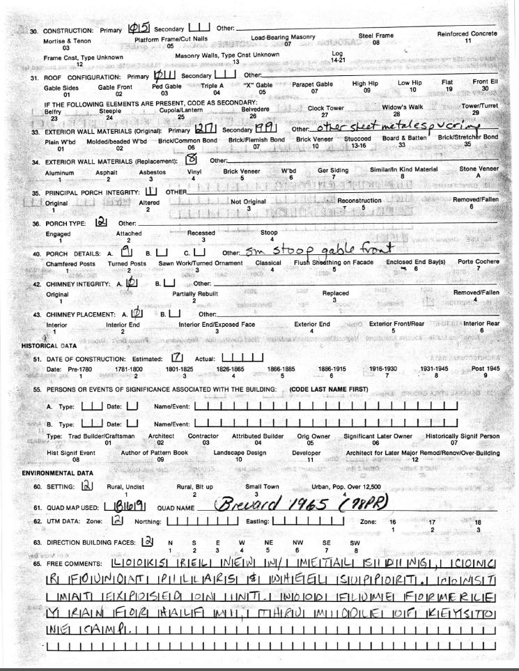 Duckworth Mill Data Sheet
