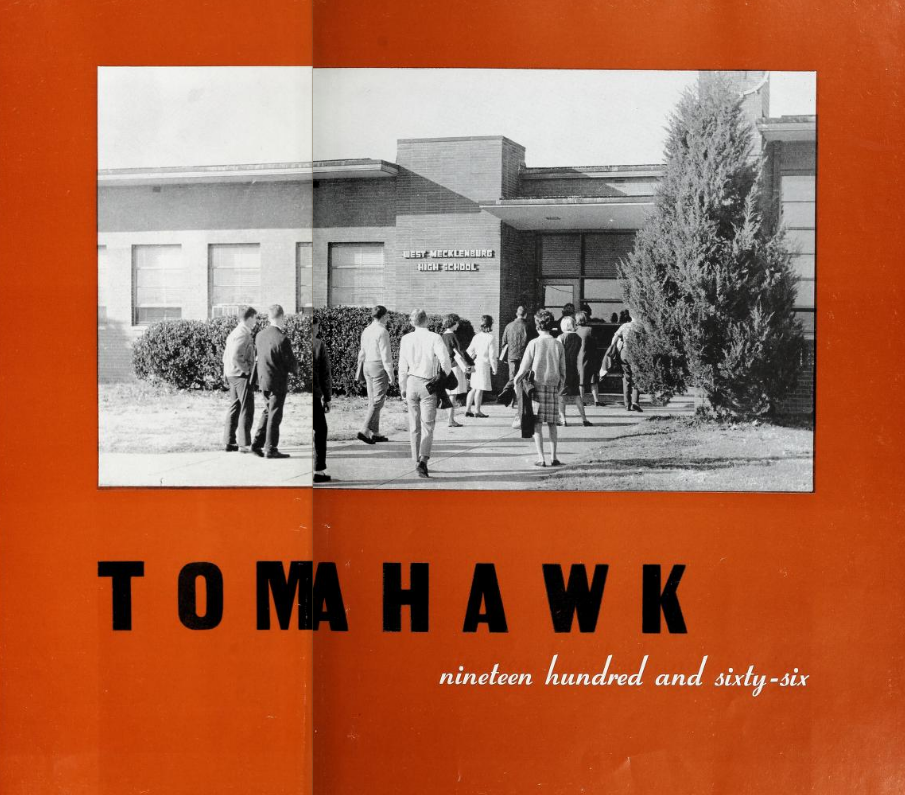 Title page of the Tomahawk Yearbook, West Mecklenburg HS, 1966
