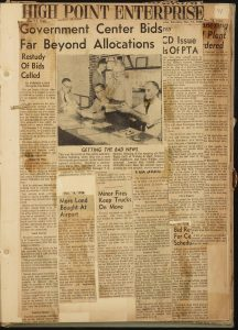 High Point scrapbooks featuring articles from Piedmont Triad newspapers