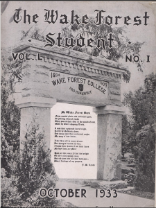 Issues of Wake Forest University's The Student from 1906-1935 added