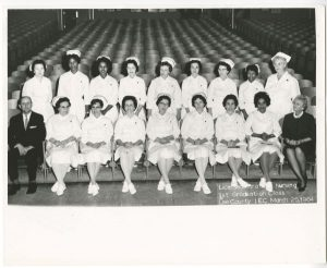 Photo of first graduating class from CCCC's Licensed Practical Nursing program