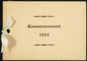 Henderson Institute graduation programs from 1924 onward