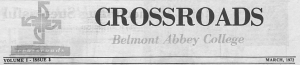 Crossroads, newspaper of Belmont Abbey College digitized