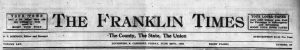 Franklin Times now covering 1909-1944 and 1963-1972 online