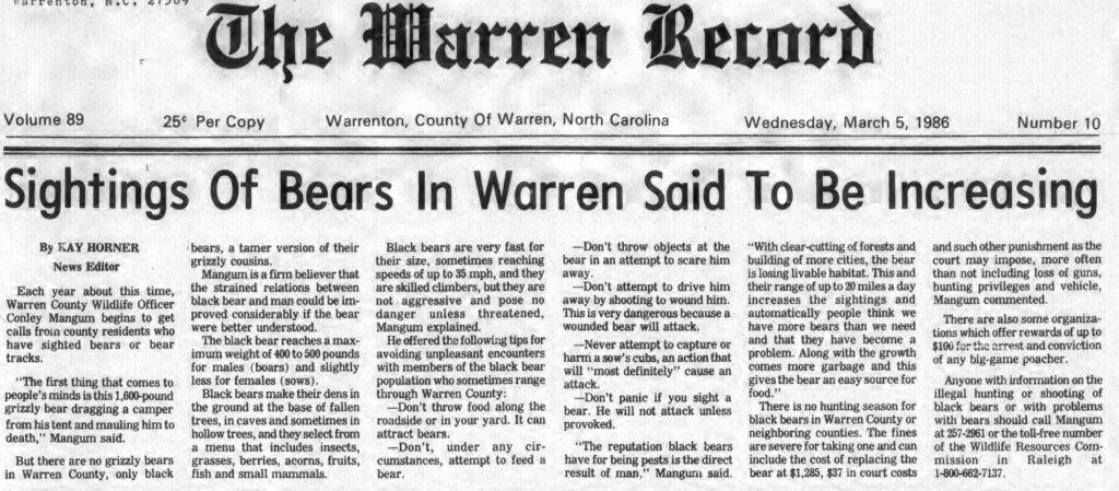 Nearly Twenty More Years of the Warren Record Now Available on DigitalNC