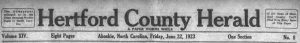 New Paper, the Hertford County Herald, Now Available