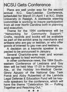 The Latest Batch Q-Notes, LGBT Newspaper from Charlotte, Shows the Paper's Origins