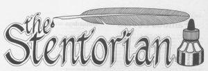 Stentorian newspaper masthead