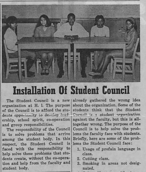 1969 student council