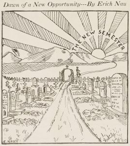 """Dawn of a New Opportunity,"" cartoon by Erich Nau"