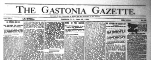 Additional issues of The Gastonia Gazette are online now at DigitalNC