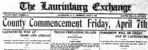 The Laurinburg Exchange Now Digitized and Available Online at DigitalNC