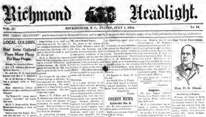 The Richmond Headlight Now Digitized and Online at DigitalNC