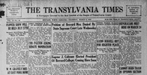 More issues of The Transylvania Times are now available online