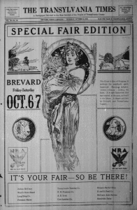 "Front page of the ""Special Fair Edition"" from October 5, 1933"