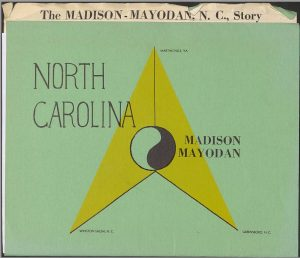 cover of an economic packet for encouraging economic investment in Madison-Mayodan, NC.