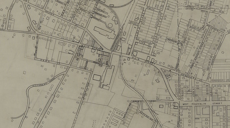 Maps Sketches and Blueprints from Chapel Hill Historical Society