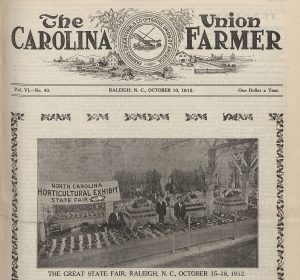 Carolina Union Farmer Front Page October 10 1912