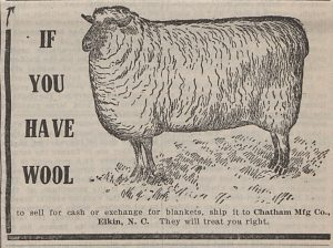 Wool ad Carolina Union Farmer