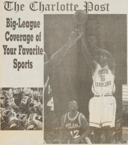 Charlotte Post sports advertisement, January 18, 1996