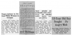 Headlines from the 1930s issues of the Charlotte Post