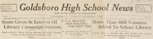 Goldsboro Hi News November 11, 1927