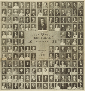 Greensboro High School Seniors of 1938, May 31, 1938