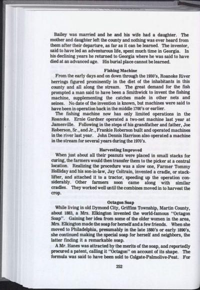Martin County History Vol I page 252