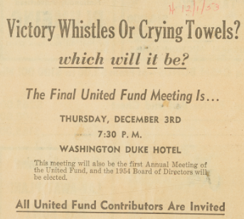 Victory Whistles or Crying Towels Clipping