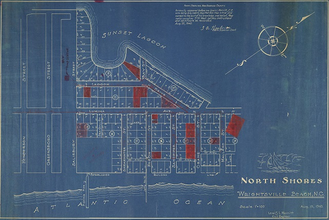 Maps, Sketches, and Blueprints on DigitalNC from our new partner Wrightsville Beach Museum of History