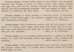 1924 Cookbook from Davie County Public Library Now Online at DigitalNC!