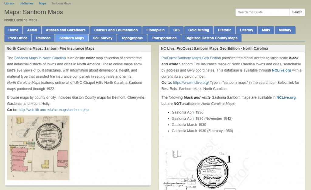 Screenshot of a public library's LibGuide site.