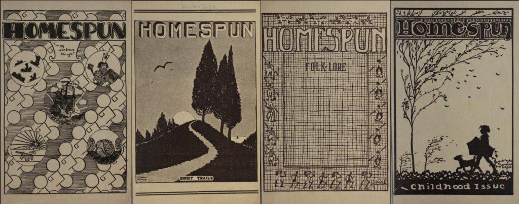 Covers from Homespun, Greensboro High School's Literary Magazine