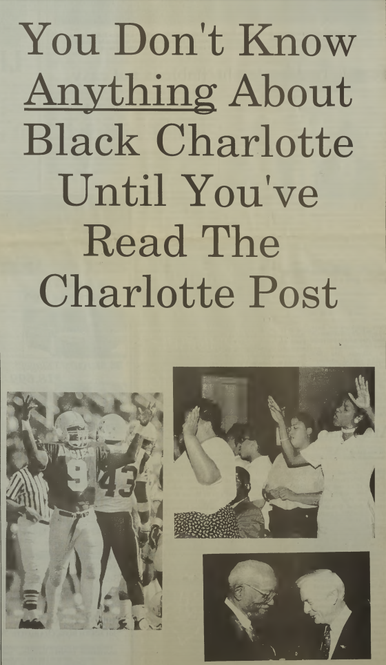 Advertisement for The Charlotte Post, November 13, 1997