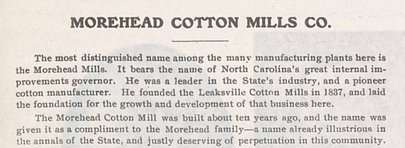 Morehead Cotton Mills Co.