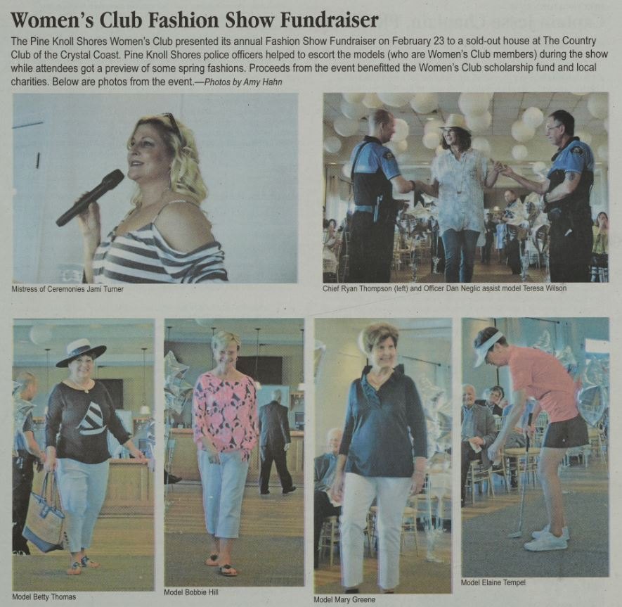 "The ""Women's Club Fashion Show Fundraiser,"" April 2018"