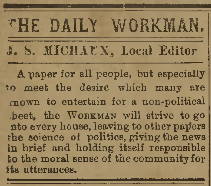 The Daily Workman, June 29, 1887
