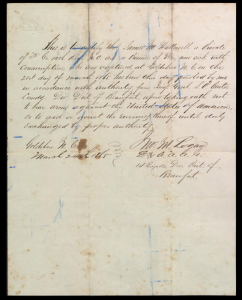Civil War Correspondence, Letters, and a Memoir by Civil War Veteran J.M. Hollowell from the Wayne County Public Library