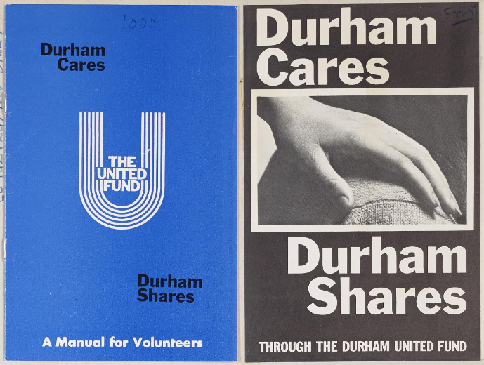 """Durham Cares, Durham Shares"" pamphlets, United Fund scrapbook, 1968"