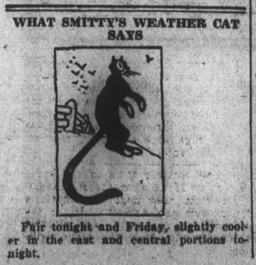 """What Smitty's Weather Cat Says,"" May 1, 1924"