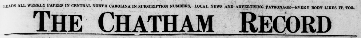 The Chatham Record, March 27, 1924