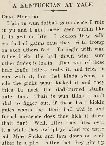 """""""A Kentuckian at Yale,"""" May 21, 1925"""