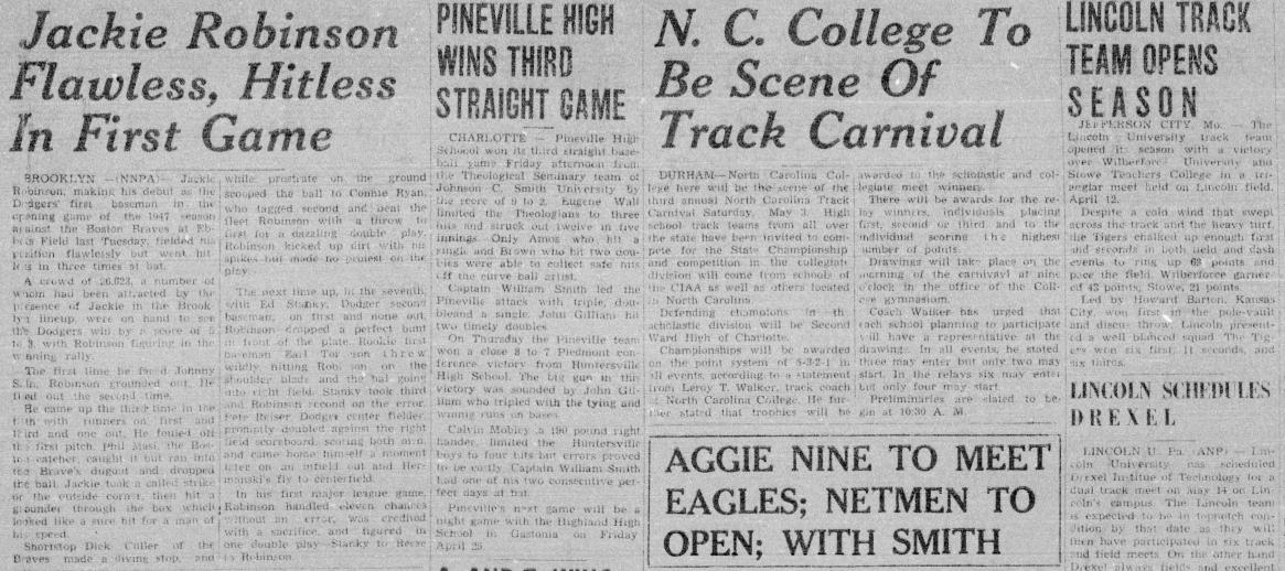 The Carolinian, April 26, 1947
