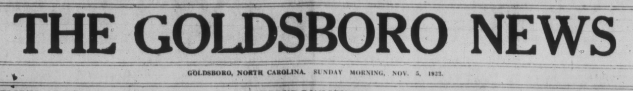 The Goldsboro News, November 5, 1922