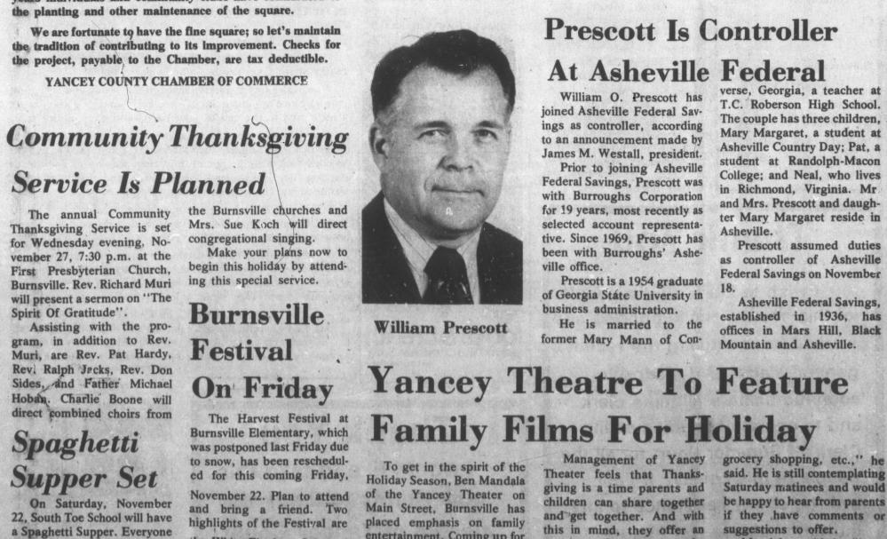 The Yancey Journal, November 21, 1974